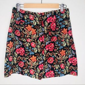 Kenzo Jungle floral button down skirt